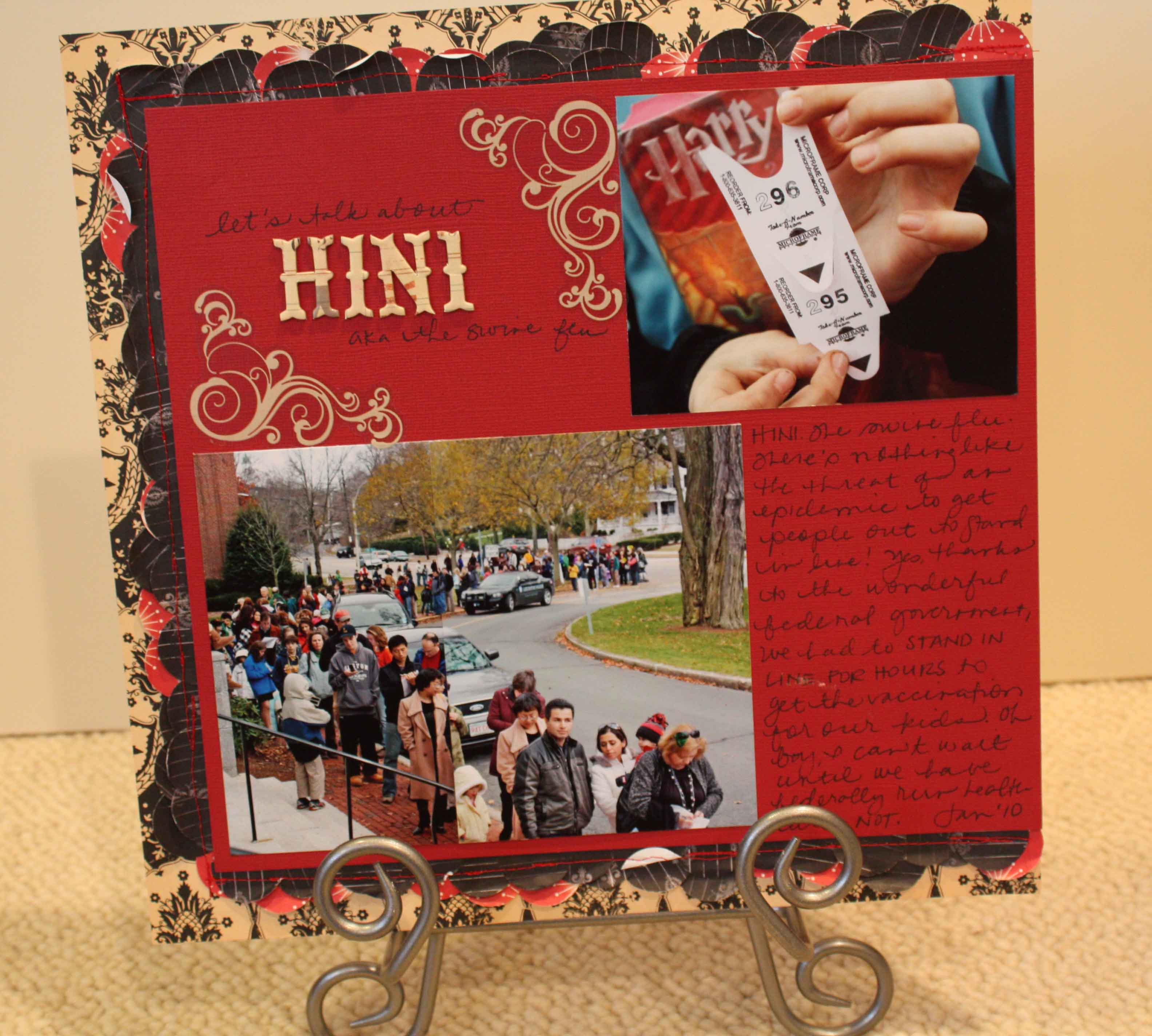 How to scrapbook good - Ummm Yes I Did Scrapbook The Whole H1n1 Vaccine Debacle How Could I Pass Up A Good Subject For My Scrapbook Someday We Ll Want To Remember Standing In